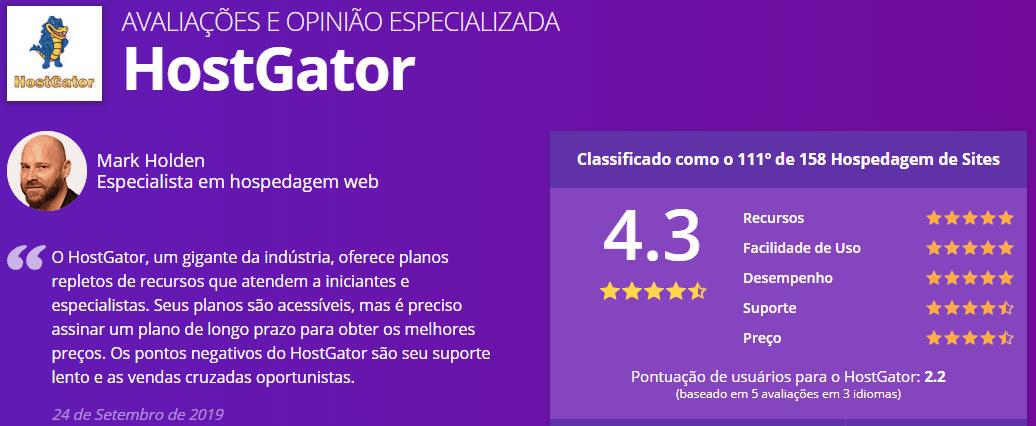 Hostinger Hospedagem WordPress - Avaliação WebsitePlanet HostGator