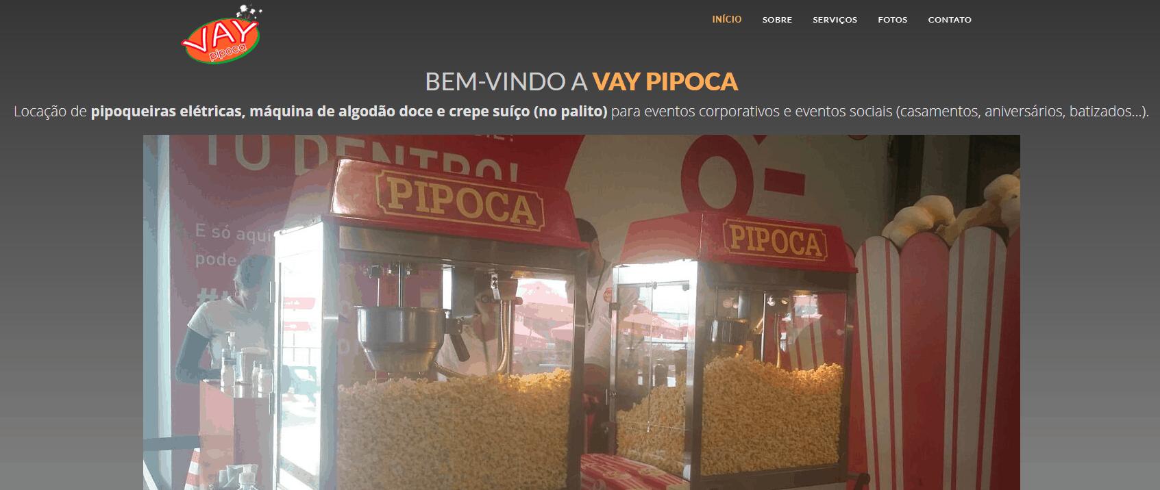 Hostinger Hospedagem WordPress - Casos de Sucesso - Vay Pipoca
