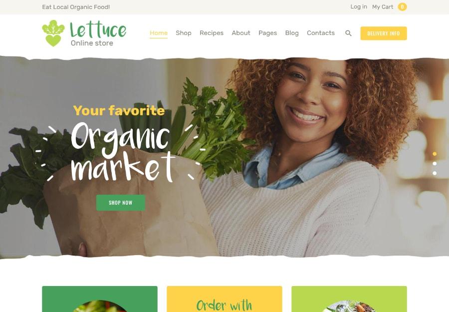 Lettuce - Comida Orgânica e Produtos Ecológicos
