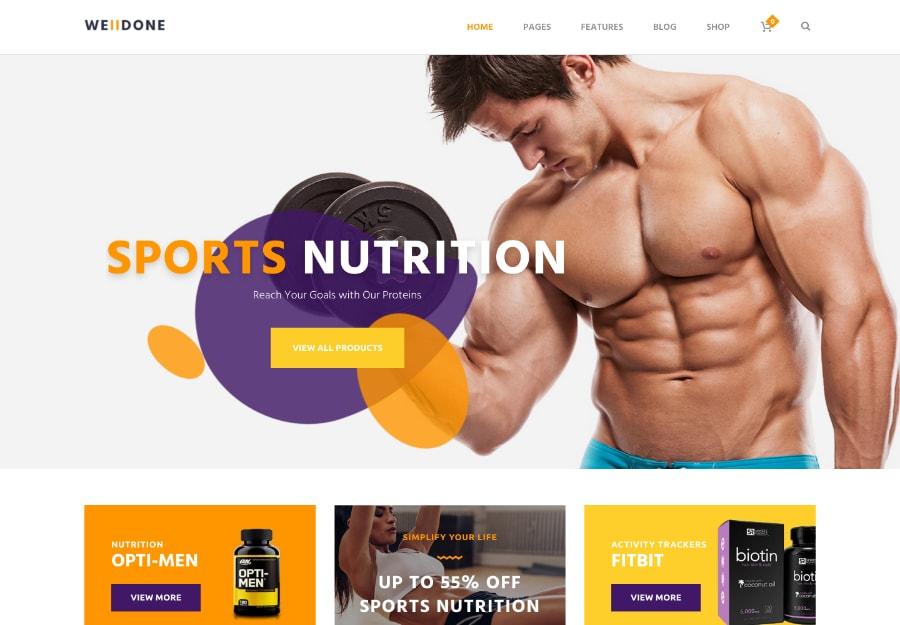 Welldone - Esportes, Nutrição Fitness e Suplementos