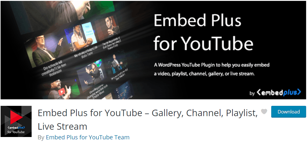 Video Player WordPress - Embed Plus for YouTube