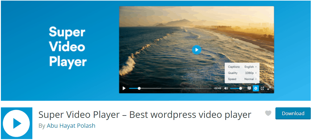 Video Player WordPress - Super Video Player