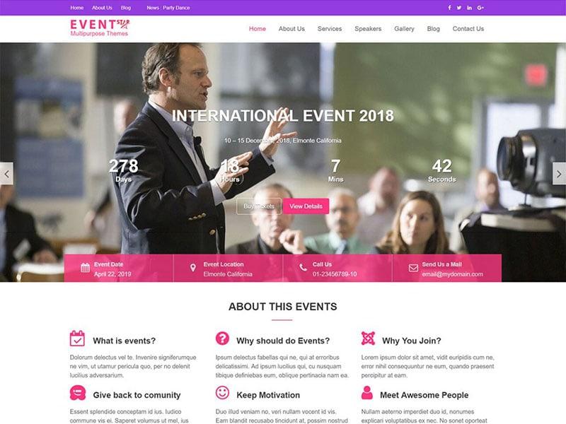 Event Star - Eventos, Conferências e Palestrantes