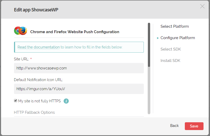 Notificacoes Push WordPress - Configurando Plataforma com HTTP