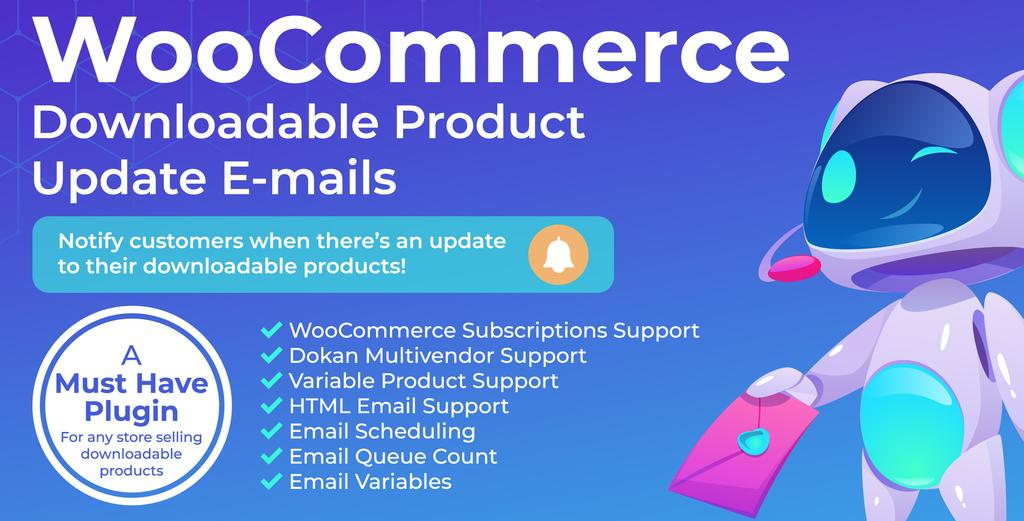 Downloadable Products Email for WooCommerce